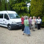 Enjoying a trip out on the minibus